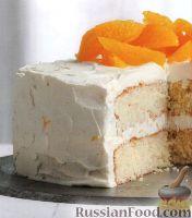Фото к рецепту: Апельсиновый торт с нежным кремом