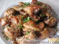 Фото к рецепту: Курица под майонезом в духовке