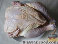 Фото приготовления рецепта: Курица под майонезом в духовке - шаг №2