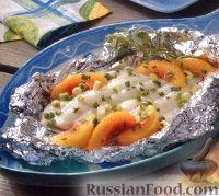 Фото к рецепту: Камбала с нектарином, приготовленная на гриле