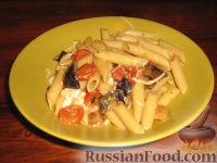 Фото к рецепту: Паста с баклажаном и моццареллой