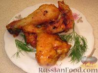 Фото к рецепту: Нежная курочка, запеченная в духовке