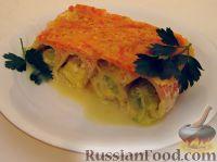 Фото к рецепту: Канеллони (макароны), фаршированные кабачком и сыром