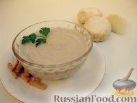 Фото к рецепту: Крем-суп из шампиньонов (в микроволновке)
