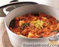 Фото к рецепту: Рагу из куриных бедрышек с кукурузой и картофелем