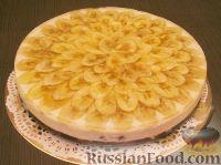 Фото к рецепту: Торт творожный с бананами