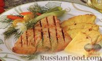 Фото к рецепту: Тунец, жаренный на гриле