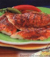 Фото к рецепту: Пряный морской окунь на гриле
