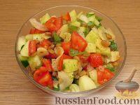 Фото к рецепту: Овощной салат с чечевицей