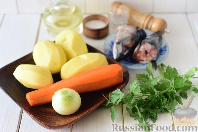 Фото приготовления рецепта: Уха из голов скумбрии - шаг №1