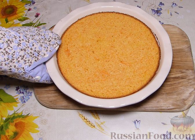 Фото приготовления рецепта: Манник с тыквой - шаг №7