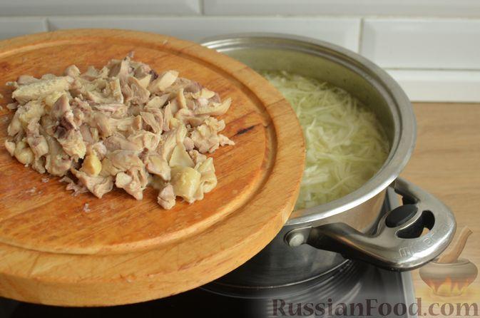 Фото приготовления рецепта: Борщ с яблоками - шаг №12
