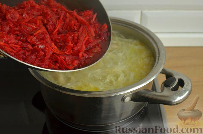 Фото приготовления рецепта: Борщ с яблоками - шаг №13