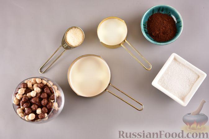 Фото приготовления рецепта: Сливочно-кофейный десерт с сухими завтраками - шаг №1
