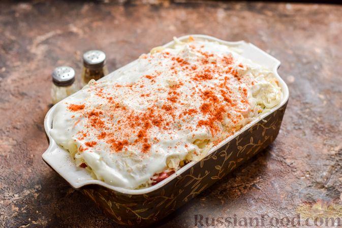 Фото приготовления рецепта: Запеканка из квашеной капусты, мясного фарша и риса - шаг №15