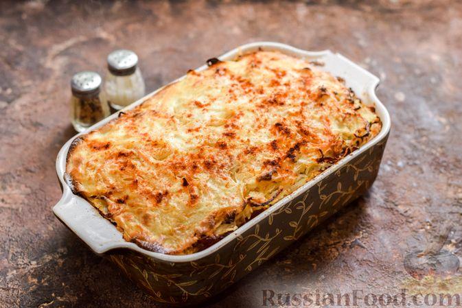 Фото приготовления рецепта: Запеканка из квашеной капусты, мясного фарша и риса - шаг №16
