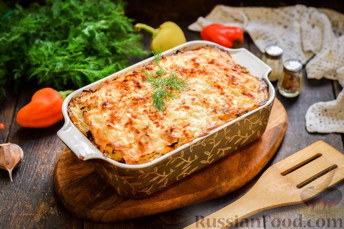 Фото приготовления рецепта: Запеканка из квашеной капусты, мясного фарша и риса - шаг №17
