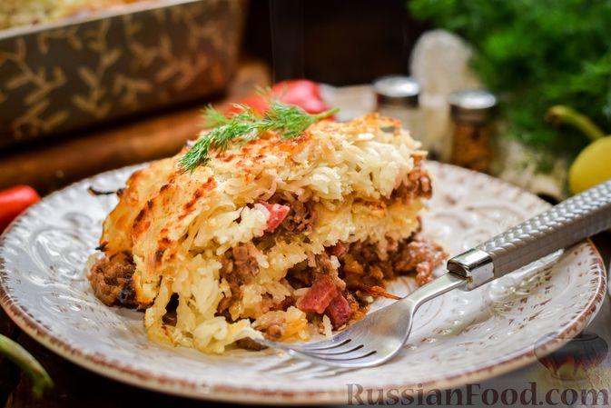 Фото приготовления рецепта: Запеканка из квашеной капусты, мясного фарша и риса - шаг №18