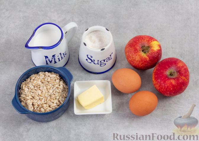 Фото приготовления рецепта: Овсяноблин с яблоками (в духовке) - шаг №1