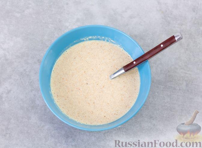 Фото приготовления рецепта: Овсяноблин с яблоками (в духовке) - шаг №6