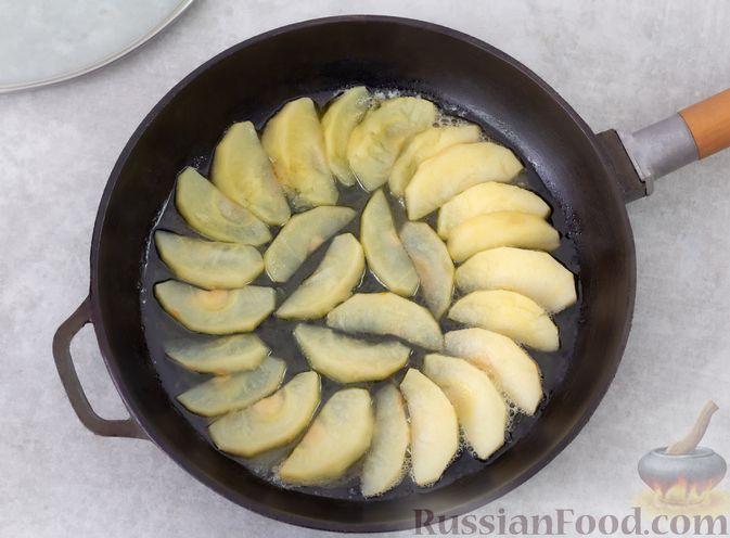 Фото приготовления рецепта: Овсяноблин с яблоками (в духовке) - шаг №3