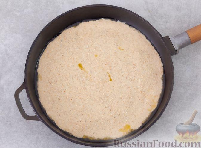 Фото приготовления рецепта: Овсяноблин с яблоками (в духовке) - шаг №7