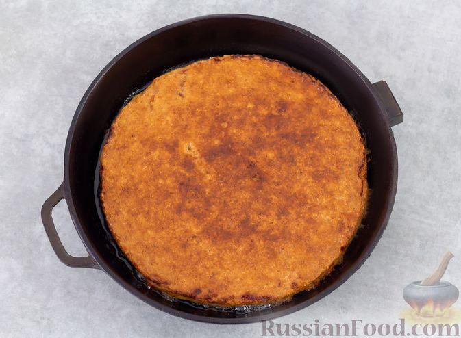 Фото приготовления рецепта: Овсяноблин с яблоками (в духовке) - шаг №8