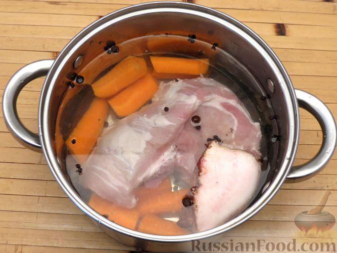 Фото приготовления рецепта: Мясной террин с сухофруктами (в духовке) - шаг №2