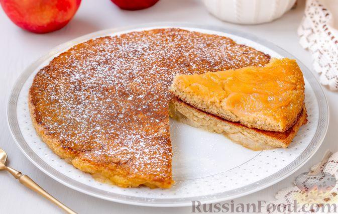 Фото приготовления рецепта: Овсяноблин с яблоками (в духовке) - шаг №9