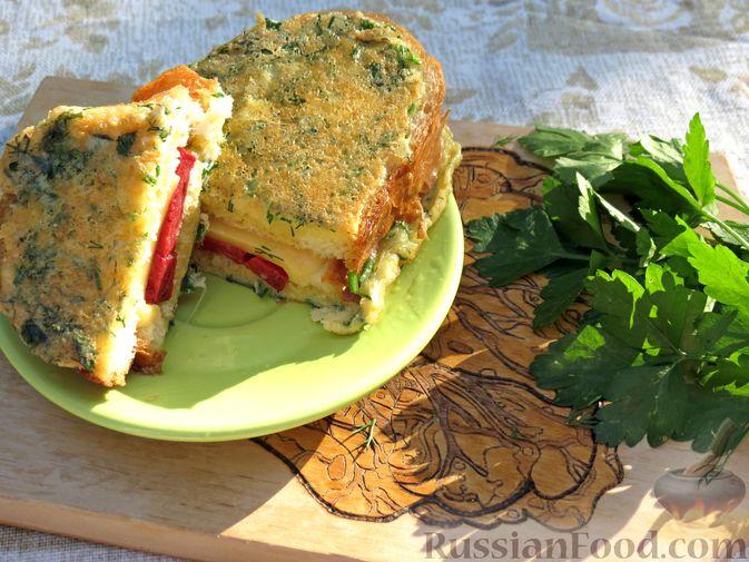 Фото к рецепту: Горячие бутерброды (сэндвичи) с колбасой