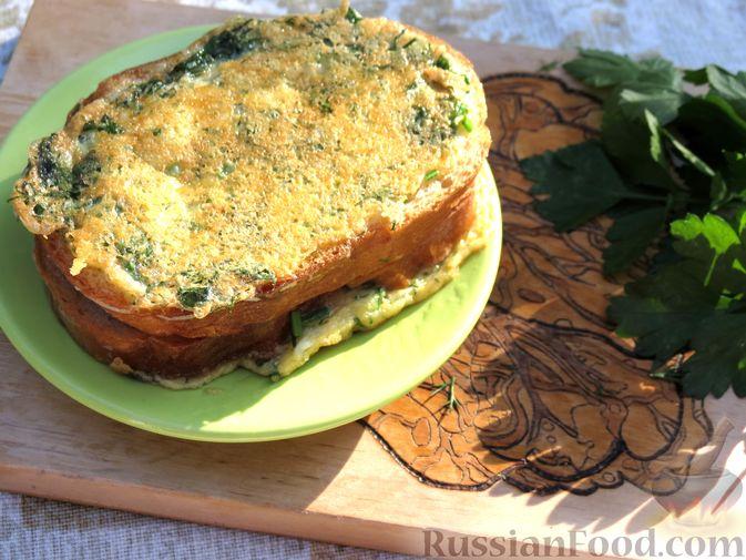 Фото приготовления рецепта: Горячие бутерброды (сэндвичи) с колбасой - шаг №8