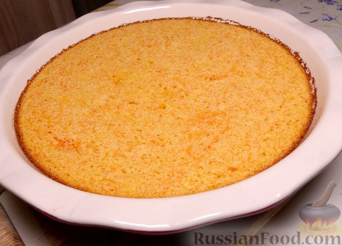 Фото к рецепту: Манник с тыквой