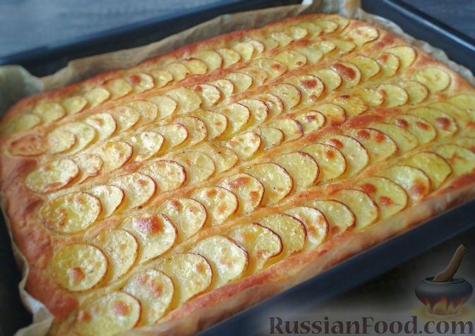 Фото к рецепту: Фокачча с картофелем