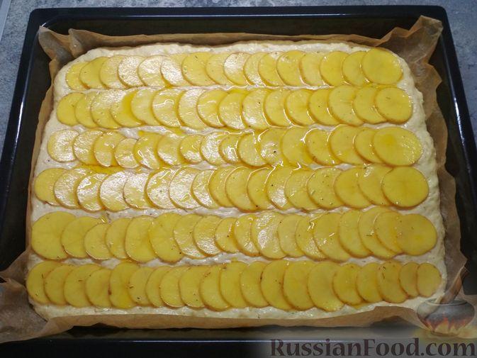 Фото приготовления рецепта: Фокачча с картофелем - шаг №6