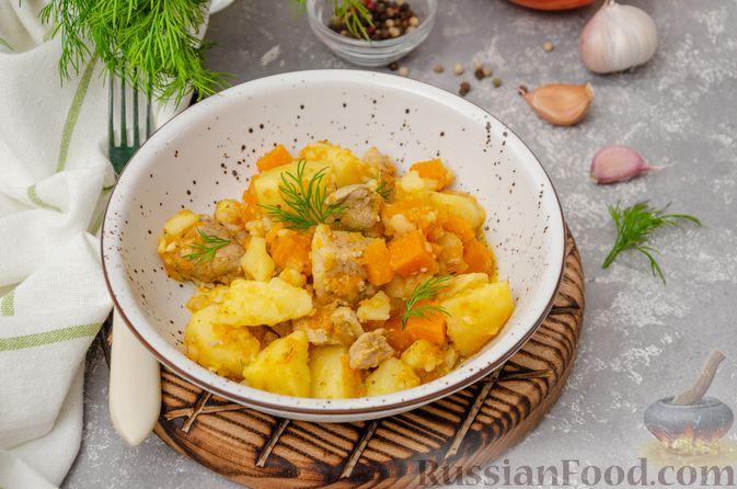 Фото к рецепту: Жаркое со свининой, картошкой и тыквой
