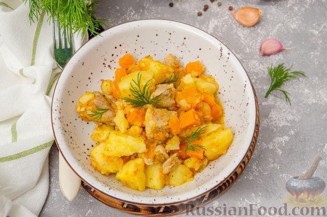 Фото приготовления рецепта: Жаркое со свининой, картошкой и тыквой - шаг №13