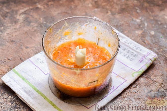Фото приготовления рецепта: Творожный десерт с киви и хурмой - шаг №6