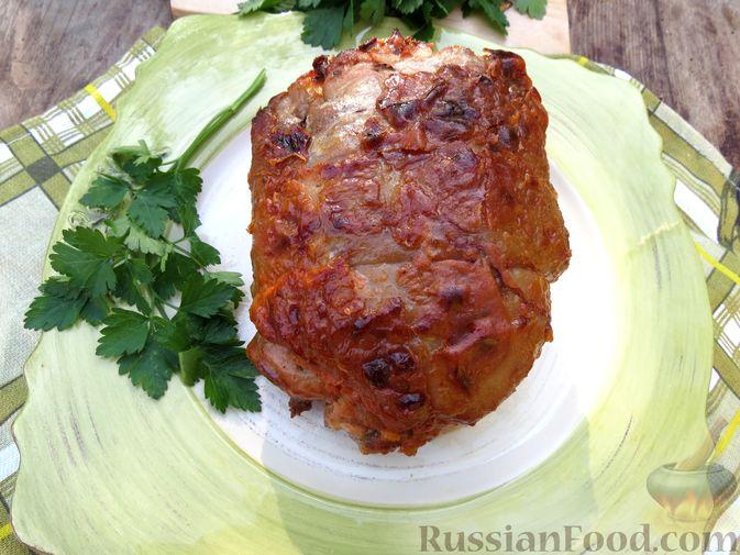Фото приготовления рецепта: Рулеты из голени индейки с морковью и сыром - шаг №12