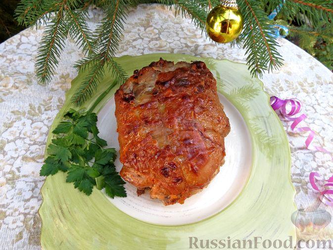 Фото приготовления рецепта: Рулеты из голени индейки с морковью и сыром - шаг №13