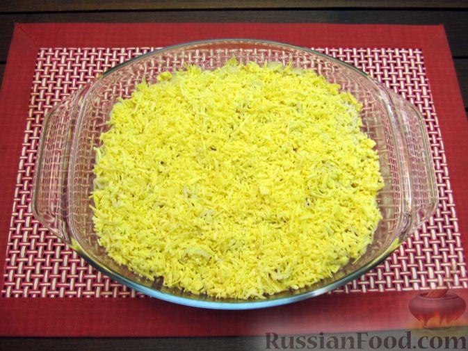 Фото приготовления рецепта: Запеканка из макарон с сосисками и сыром - шаг №12