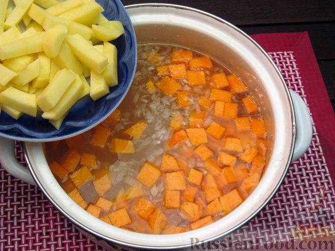 Фото приготовления рецепта: Щи с тыквой и фасолью - шаг №15