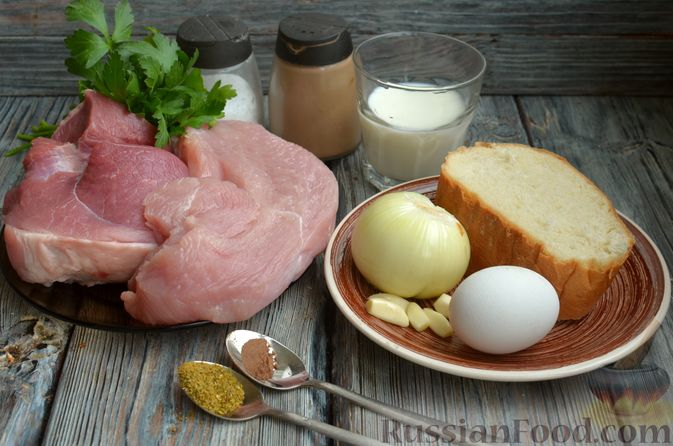 Фото приготовления рецепта: Котлеты из индейки и свинины - шаг №1