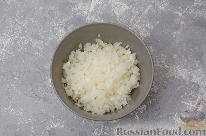 """Фото приготовления рецепта: """"Гнёзда"""" из картофельного пюре с мясным фаршем и сыром - шаг №7"""