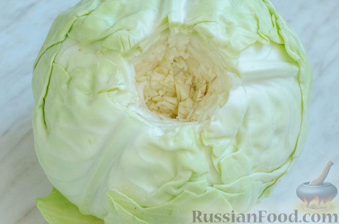 Фото приготовления рецепта: Голубцы с нутом, рисом и мясным фаршем - шаг №4