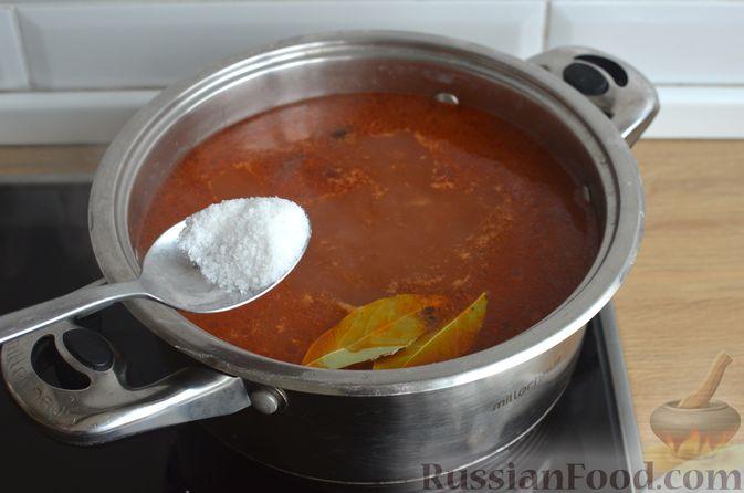 Фото приготовления рецепта: Гречневый суп с рыбными консервами - шаг №9
