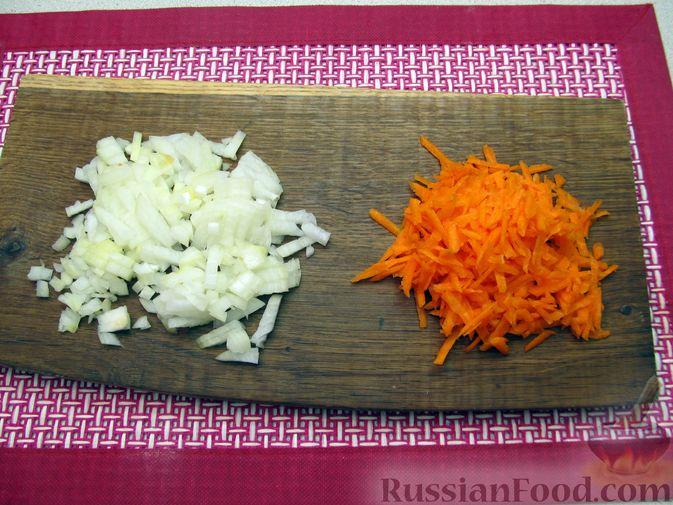 Фото приготовления рецепта: Гречневый суп с курицей и болгарским перцем - шаг №7