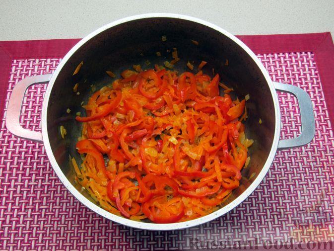 Фото приготовления рецепта: Гречневый суп с курицей и болгарским перцем - шаг №13