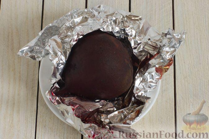 Фото приготовления рецепта: Борщ с краснокочанной капустой и нутом - шаг №3