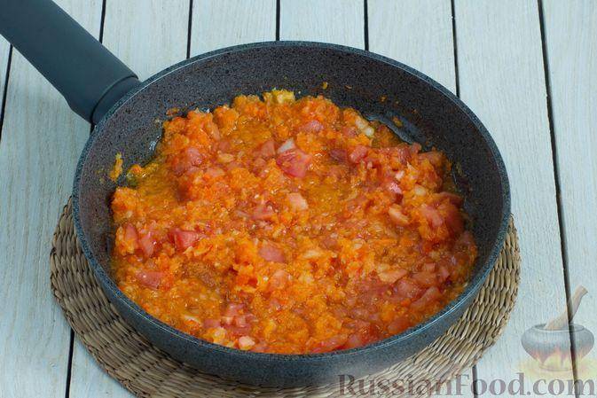Фото приготовления рецепта: Борщ с краснокочанной капустой и нутом - шаг №9