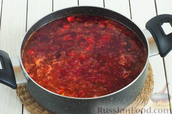 Фото приготовления рецепта: Борщ с краснокочанной капустой и нутом - шаг №10